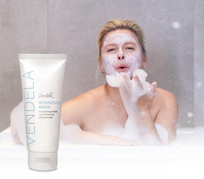Vendela Hydration Mask er en forfriskende ansiktsmaske som gir intens fuktighet og næring til en tørr og/eller dehydrert hud.
