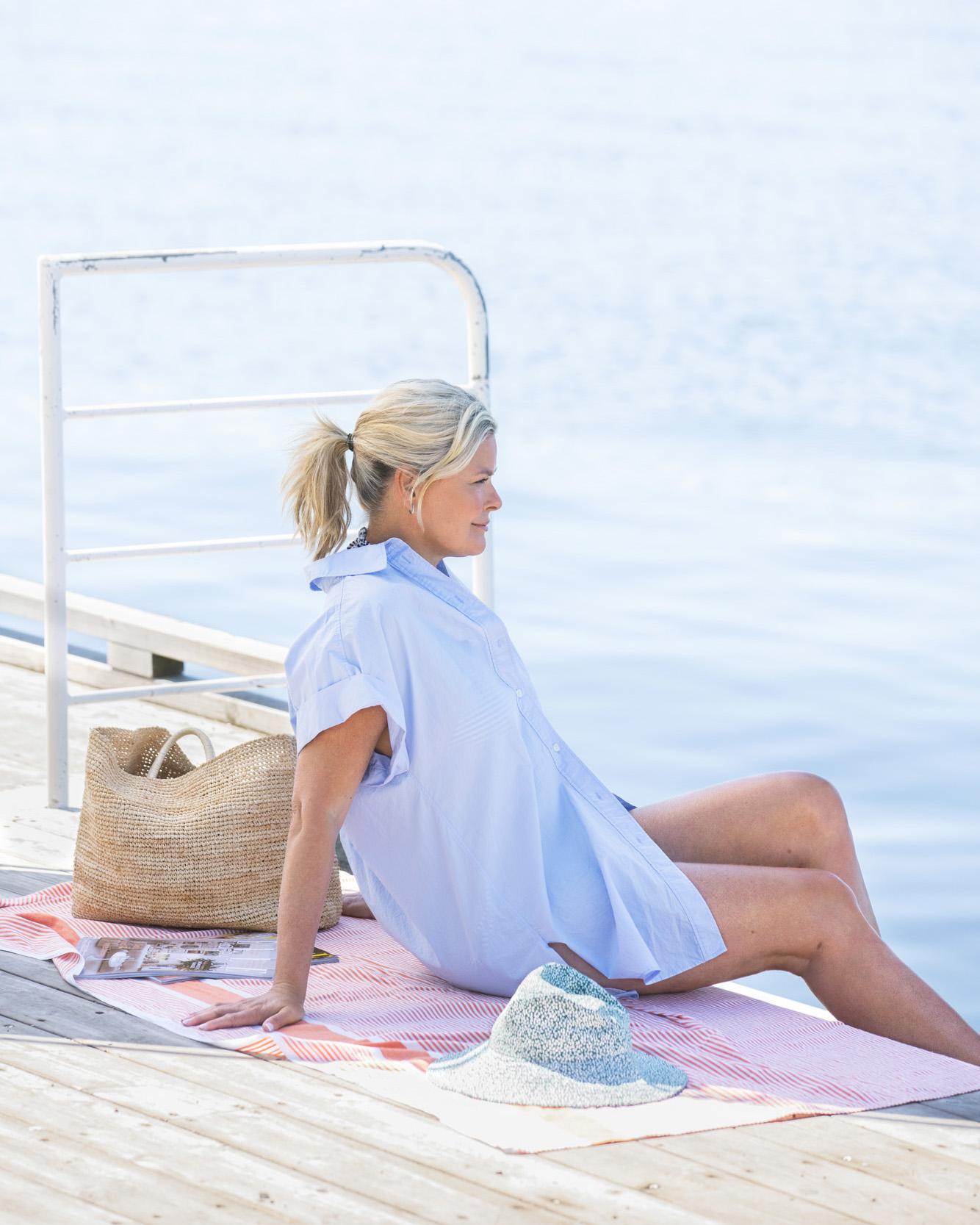 Vendela tipser om rett bruk av dusjolje