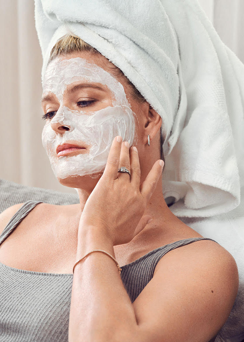Vendela med ansiktsmaske